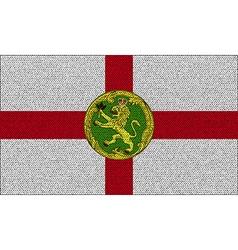 Flags alderney on denim texture vector