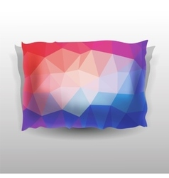 Colorful soft pillow vector