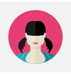 Female avatar in flat style vector