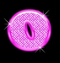 O letter pink bling girly vector image