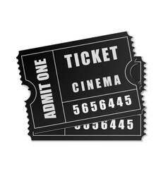 Admit one ticket icon isolated vector