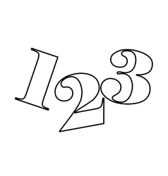 123 numbers drawing isolated icon design vector