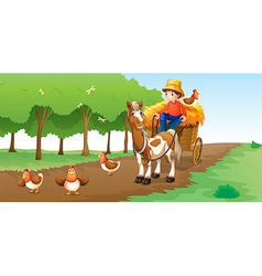 A farmer vector image vector image