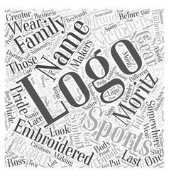 A look at one creator of sports logos word cloud vector