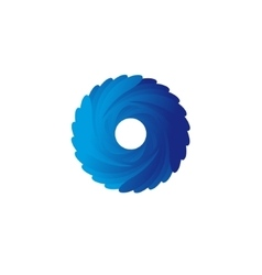 Abstract blue spiral logo vector