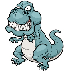 Angry dinosaur vector