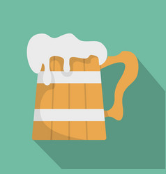 big beer mug icon flat style vector image