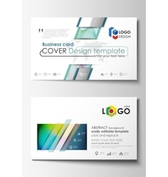 Business card templates cover template easy vector
