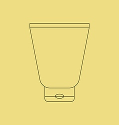 Cream Tube Icon vector image vector image