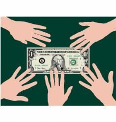 dollar hands vector image