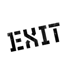Exit rubber stamp vector