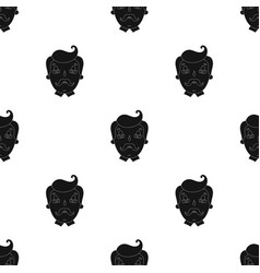 Father icon in black style isolated on white vector