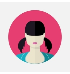female avatar in flat style vector image vector image