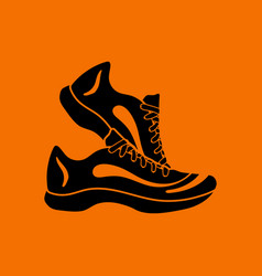fitness sneakers icon vector image vector image