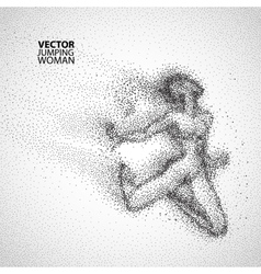 Jump woman graphics drawing vector image