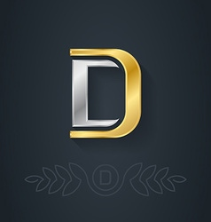 Letter d template for company logo with monogram vector