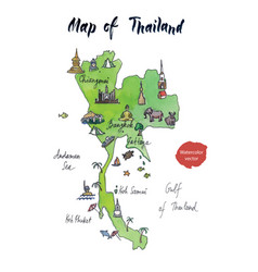 map of thailand watercolor vector image vector image