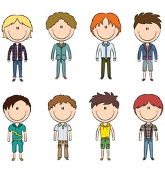 Modern trendy boys vector image vector image