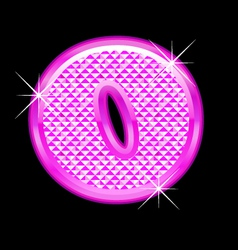 O letter pink bling girly vector image