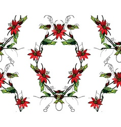 Passiflora frame pattern vector image vector image