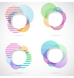 Retro striped circular design elements vector image vector image