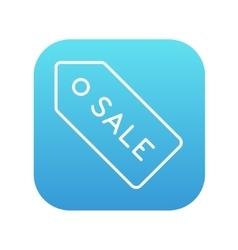 Sale tag line icon vector image vector image