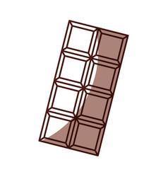 Shadow chocolate bar cartoon vector