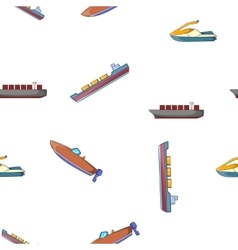 Ships pattern cartoon style vector image