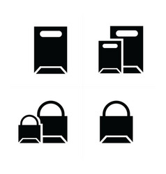 shopping bags set paper bags vector image