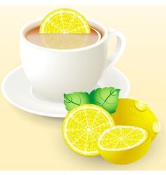 Tea and Lemon vector image