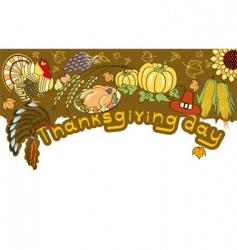thanksgiving border vector image vector image