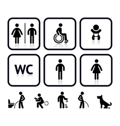 Toilet icons vector