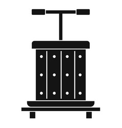 Traditional wooden press for grapes icon vector