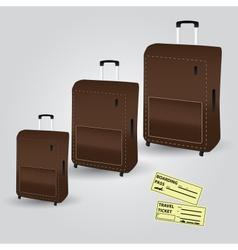 Travelling cases and tickets eps10 vector