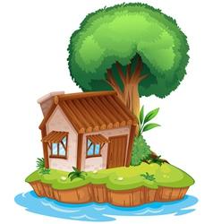 A house on an island vector image
