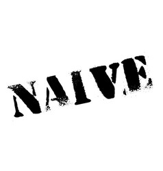 Naive rubber stamp vector