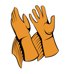 Rancher gloves icon icon cartoon vector