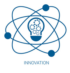 Innovation blue flat icon vector