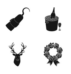 Animal literature and or web icon in black style vector