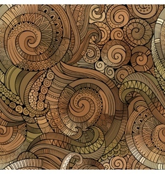 Spiral decorative doodles seamless pattern vector