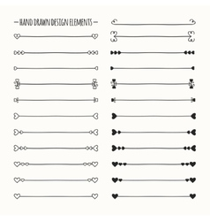 Hand drawn line border set and scribble vector