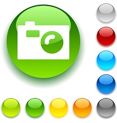Photo button vector