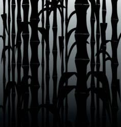 bamboo black vector image