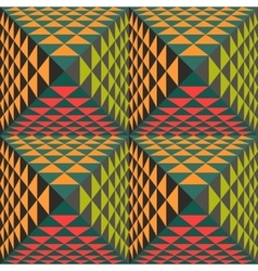 Abstract geometrical background with pyramids vector