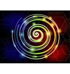 Light spiral colorful background vector
