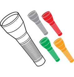 Flashlights vector