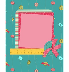 greeting frame card vector image