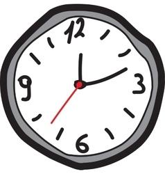 Hand drawing clock vector image