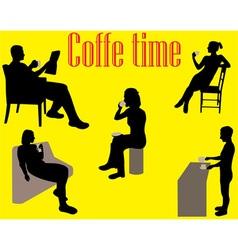 coffe time vs vector image