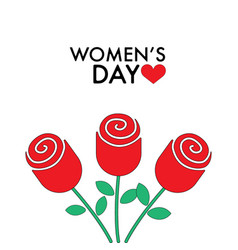 8 march women s day roses vector image